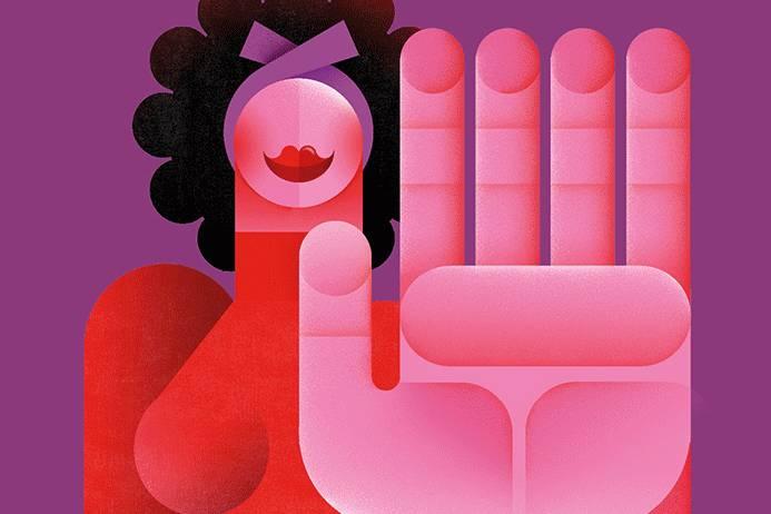Cartel La Mercè Antimasclista . Diseño Gráfico uai