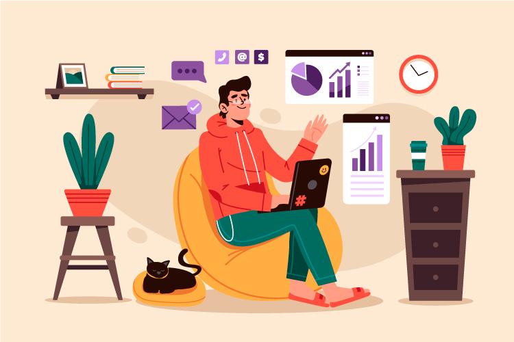 ilustración header herramientas teletrabajo