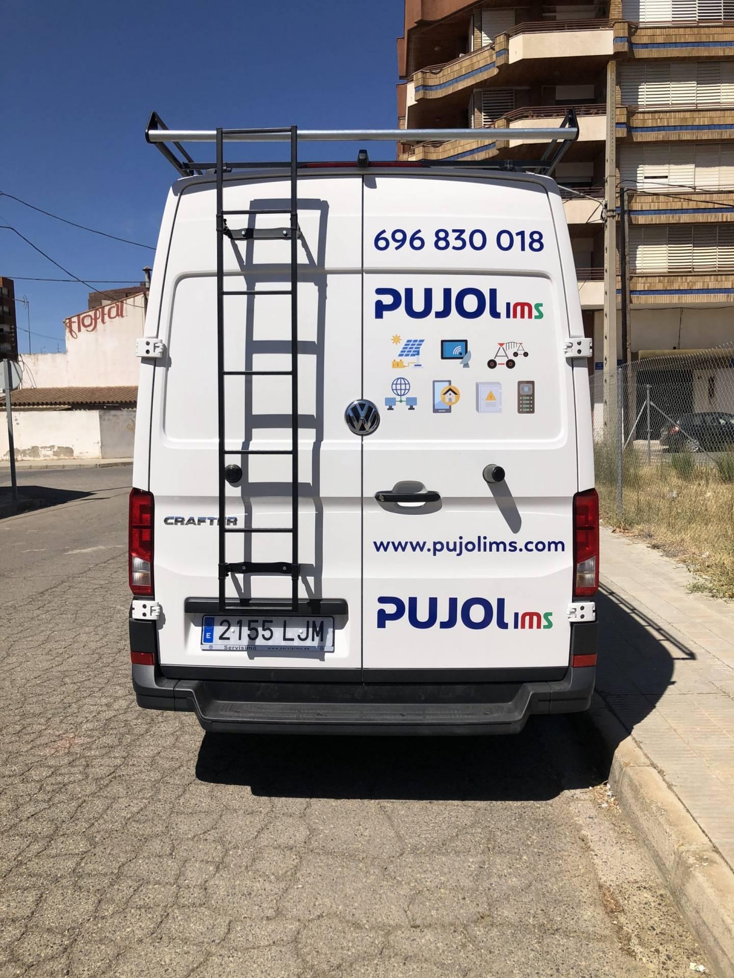 Rotulación furgoneta pujol ims _ Terrecrea